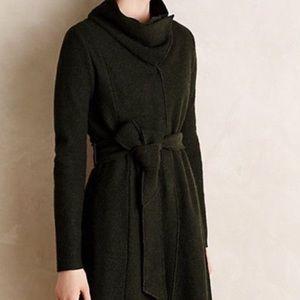 Anthropologie Sparrow Shawled Wool Sweatercoat